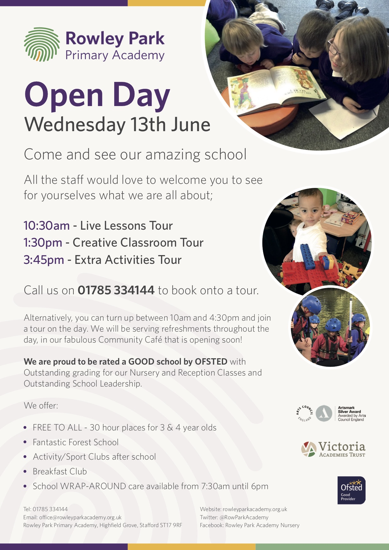 School Open Day Poster, Wednesday 13th June 2018