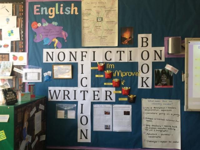 English working wall display