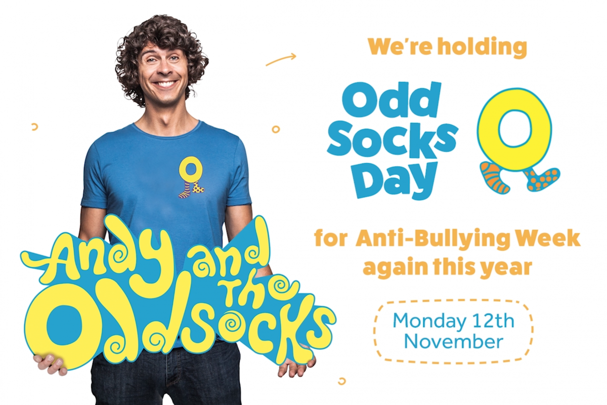 anti bullying week poster for odd sock day