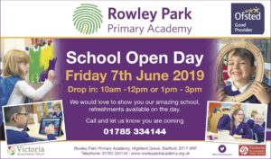 Rowley Park Primary Academy OPEN DAY Friday 7th June (